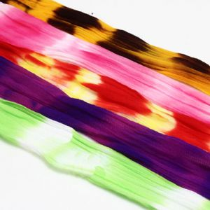 Two colours Specially dyed nylon, Nylon, Assorted colours, 5 piece, Stretched size 1.5m x 15cm, [SWW0502]